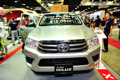 Toyota Hilux display during the Singapore Motorshow 2016 Stock Photography