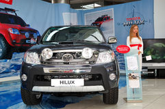Toyota HILUX at Yearly automotive-show Stock Images