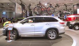 2015 Toyota-Hooglandervrachtwagen bij 2014 New York  Royalty-vrije Stock Foto