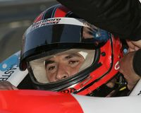 2006 Toyota Indy 300. Helio Castroneves sits in his car wating for the Toyota Indy 300 to begin at Homestead Miami Speedway in Homestead, Florida on March 26 stock image