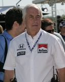 2006 Toyota Indy 300. Team owner Roger Penske waits for the start of the Toyota Indy 300 at Homestead Miami Speedway in Homestead, Florida on March 26, 2006 stock image