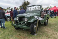 Toyota Land Cruiser FJ25 Army Green 1960 on display. Long Beach, USA - May 6 2017: Toyota Land Cruiser FJ25 Army Green 1960 on display during the 22nd annual All Royalty Free Stock Image