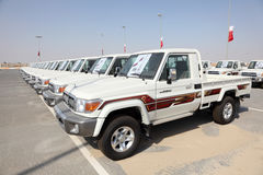 Toyota Land Cruiser Pickup Trucks Royalty Free Stock Photo