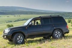 Toyota LandCruiser vehicle and Nature Stock Photo