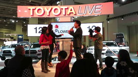 Toyota Live Show-Higher or Lower stock footage
