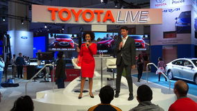 Toyota Live Show stock footage