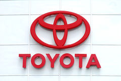 Toyota marca o logotipo Fotografia de Stock