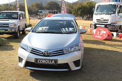 Toyota medelskärm på festivalen Sydafrika royaltyfria bilder