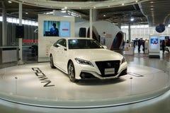 Toyota Mega Web in Odaiba island. Crown RS Advance Hybrid car royalty free stock photos
