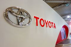 Toyota Mega Web in Odaiba in Tokyo, Japan. Tokyo, Japan - April 20 2018: Toyota Mega Web in Odaiba island is an automotive focused theme park and showroom which royalty free stock image