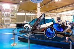 Toyota Mega Web in Odaiba in Tokyo, Japan. Tokyo, Japan - April 20 2018: Toyota Mega Web in Odaiba island is an automotive focused theme park and showroom which royalty free stock photo
