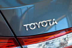 Toyota metal symbol Stock Photo