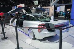 Toyota Mirai πίσω στη μελλοντική έκδοση στοκ φωτογραφίες με δικαίωμα ελεύθερης χρήσης