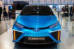 Toyota Mirai fuelcellbil Arkivbild