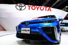 Toyota Mirai, het voertuig van de Waterstofmotor Stock Foto's