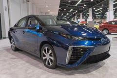 Toyota Mirai su esposizione immagini stock
