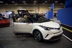 Toyota Motor företag CH-R på en Car Show royaltyfria bilder