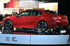 Toyota na exposição na feira automóvel 2017 internacional norte-americana Imagens de Stock