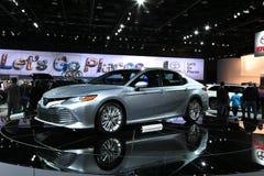 Toyota na exposição na feira automóvel 2017 internacional norte-americana Foto de Stock