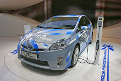 Toyota new prius hybrid car Stock Images