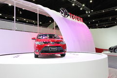 BANGKOK - MARCH 26: Toyota New Vios car on display at The 34th Bangkok International Motor Show on March 26, 2013 in Bangkok, Thai Stock Image