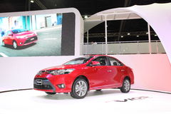 BANGKOK - MARCH 26: Toyota New Vios car on display at The 34th Bangkok International Motor Show on March 26, 2013 in Bangkok, Thai Stock Photo