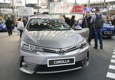 Toyota på den Belgrade Car Show fotografering för bildbyråer