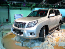 Toyota Prado. DUBAI, UAE - DECEMBER 19: Toyota Prado on display during Dubai Motor Show 2009 at Dubai Int'l Convention and Exhibition Centre December 19, 2009 in Royalty Free Stock Images