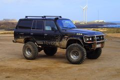 Toyota preto 4x4 Bigfoot Foto de Stock Royalty Free