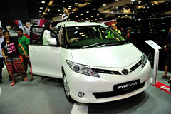 Toyota Previa display during the Singapore Motorshow 2016 Royalty Free Stock Image