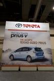 Toyota Prius Ad. HOUSTON - JANUARY 2012: A Toyota Prius Ad at the Houston International Auto Show on January 28, 2012 in Houston, Texas Stock Photography