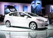 Toyota PRIUS in the Autoshow Chicago 2009 Stock Photo