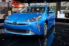 Toyota Prius AWD 2019 at the annual International auto-show, February 9, 2019 in Chicago, IL