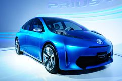 Toyota Prius-c, electronic power car Royalty Free Stock Photography