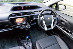 Toyota Prius C 2015 interior Royalty Free Stock Images