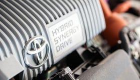 Toyota Prius Hybird system Arkivfoto