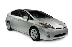 Toyota Prius Hybrid Car. A 2009 Toyota Prius Hybrid car isolated on white. The vehicle has a clipping path that excludes the shadow stock photography