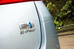 Toyota Prius Hybrid logo Stock Images