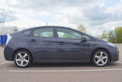 Toyota Prius-Hybride - zijaanzicht Royalty-vrije Stock Foto
