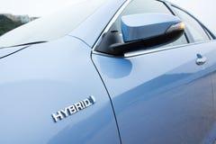 Toyota Prius-Hybridlogo Lizenzfreies Stockbild