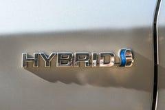 Toyota Prius hybrydu logo Obrazy Royalty Free