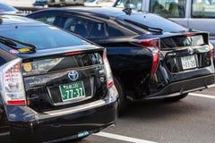 Toyota-prius op de straat van Kyoto in Japan Royalty-vrije Stock Afbeeldingen