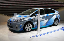 Toyota Prius Plug-in Hybrid at Paris Motor Show Royalty Free Stock Photo