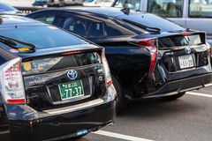 Toyota prius on the street of Kyoto in Japan Royalty Free Stock Images