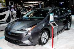 Toyota Prius-tentoongesteld voorwerp bij 2016 New York Internationale Autosho Royalty-vrije Stock Foto