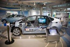 2017 Toyota Prius toyota Electro samochód Japonia Obrazy Stock