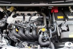 Toyota Ractis Japan Version 2014 Engine Stock Images