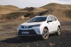 Toyota RAV4 on terrain Stock Photography