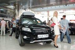 Toyota RAV4 bij Jaarlijkse automobiel-show Royalty-vrije Stock Foto