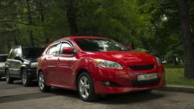 Toyota red car. royalty free stock photography